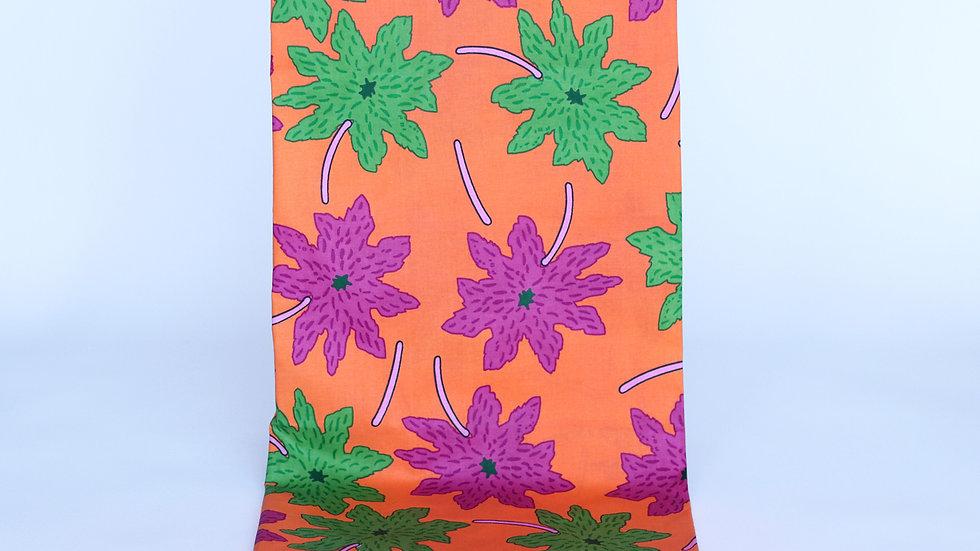 African Print Orange/Fuschia
