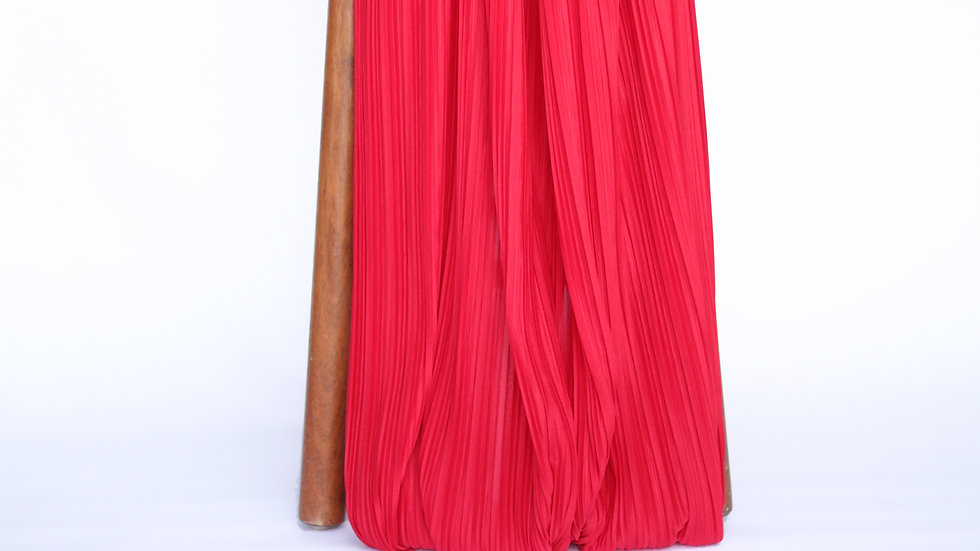 Pleated Red