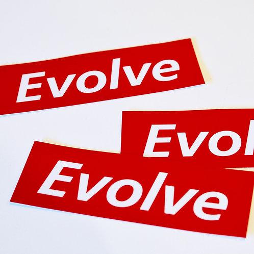 EVOLVE 赤ロゴステッカー