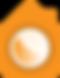 bright house oragne logo icon