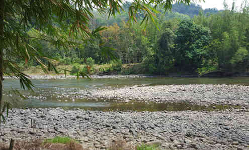 Kiulu river at Q'Lu Camp