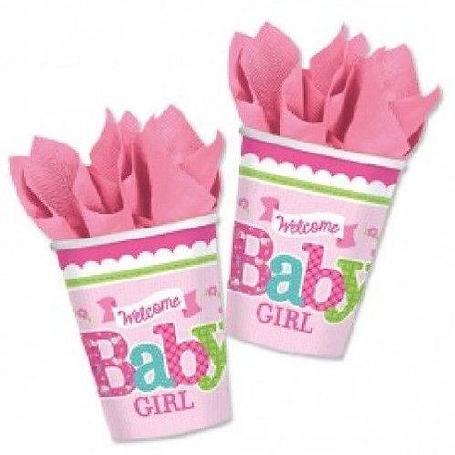 "Becher ""Welcome Baby Girl"""