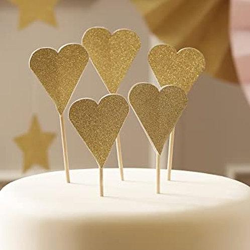 Cupcake Stecker Goldenes Herz