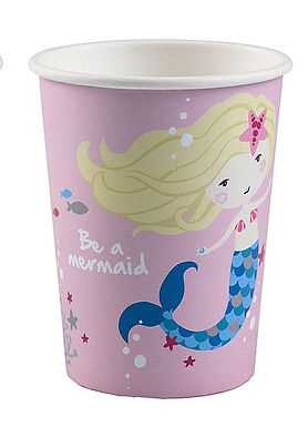"Becher ""Be a mermaid"", rosa"