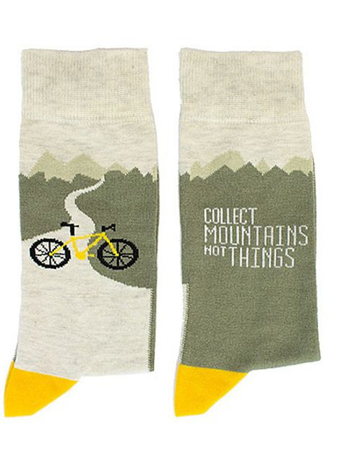"Socken ""Collect Mountains not Things"", Größe 36-40"