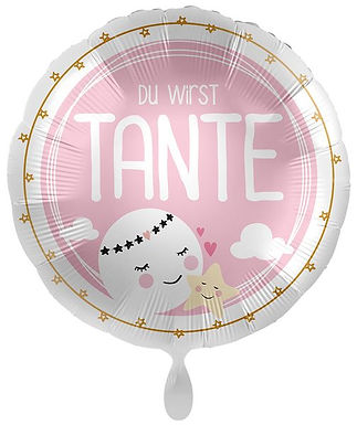 Folienballon: Du wirst Tante