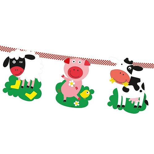 Wimpelkette Bauernhoftiere