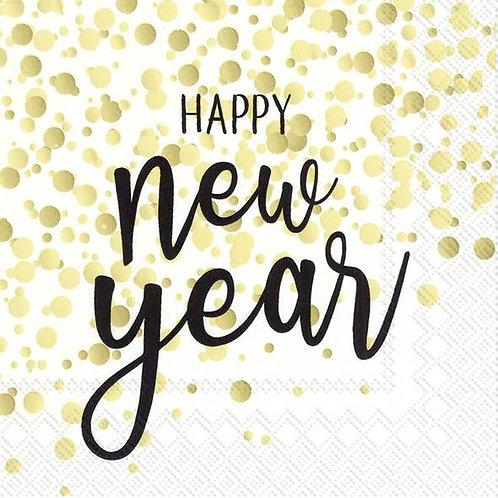 "Servietten ""Happy New Year"" / Confetti"