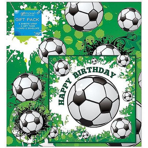 Geschenkpapier-Set Fußball, 6-teilig