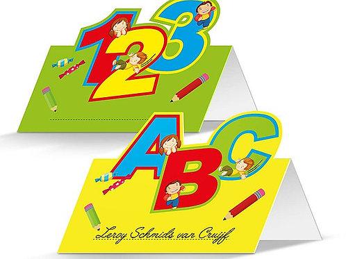 """Tischkarten/Namenskarten """"ABC - 123"""""""
