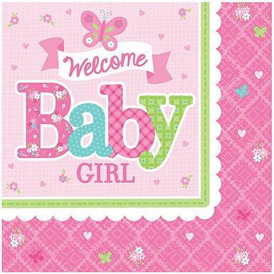 "Servietten ""Welcome Baby Girl"""