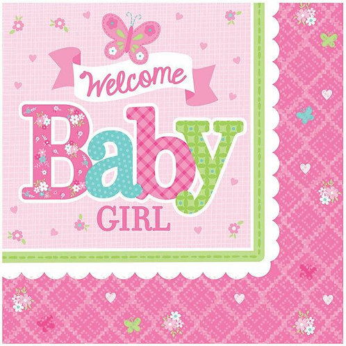 "Servietten ""Welcome Baby Girl"""