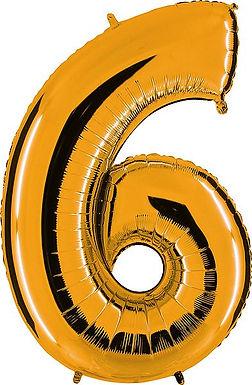 """Riesenzahl """"6"""" - gold"""