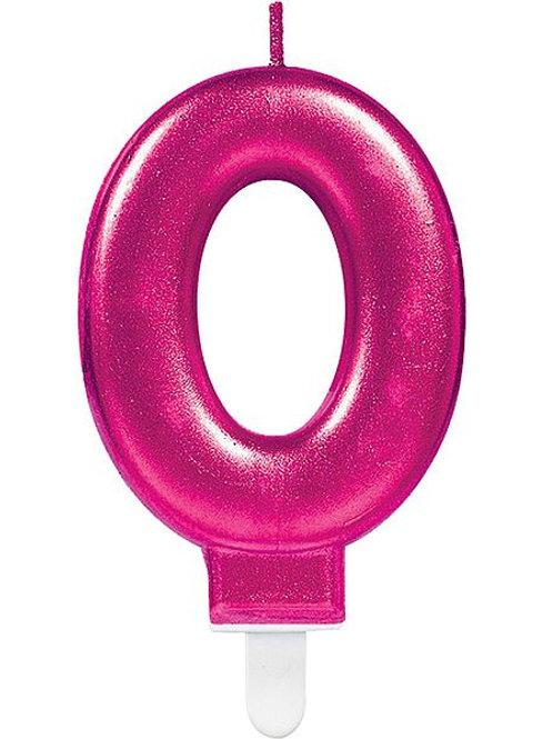 """Zahlenkerze """"0"""", pink"""