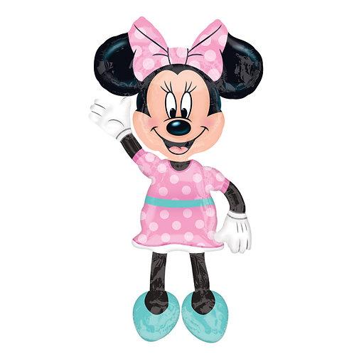 Airwalker-Ballon  (auf dem Boden stehend): Minnie Mouse
