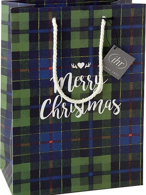 Geschenketasche Merry Christmas grün/blau