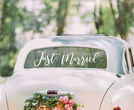 """Auto-Sticker """"Just Married"""", selbsthaftend"""