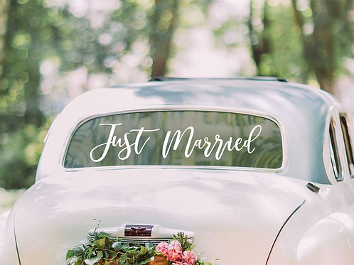 "Auto-Sticker ""Just Married"", selbsthaftend"