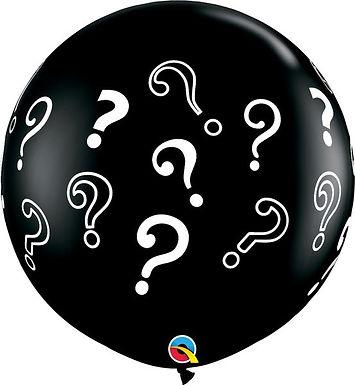Ø 90cm Latex-Riesenballon mit Fragezeichen, ungefüllt