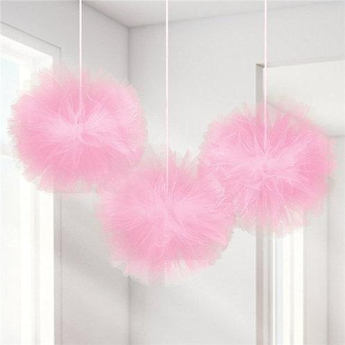 Tüll-PomPoms in rosa
