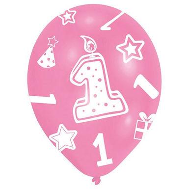 Latex-Ballon zum 1. Geburtstag, Mädchen, Ø 27,5cm