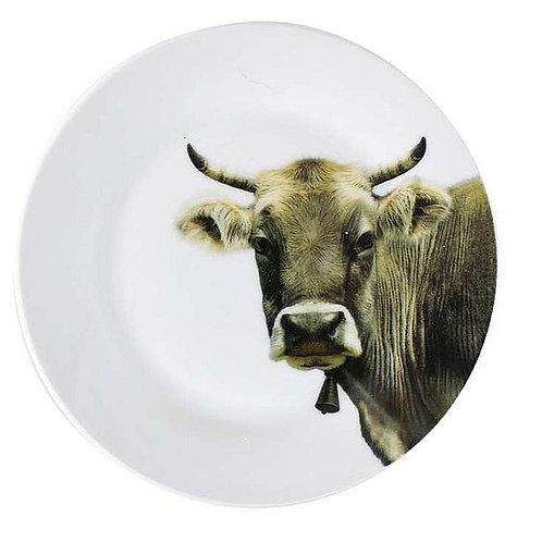 Porzellanteller Kuh,  Ø 19 cm
