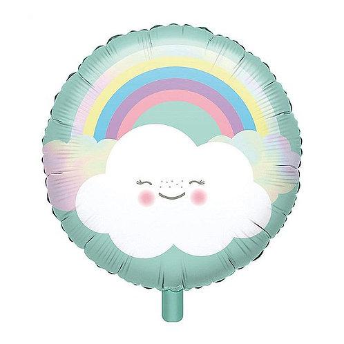 Folienballon Regenbogen mit Wolke