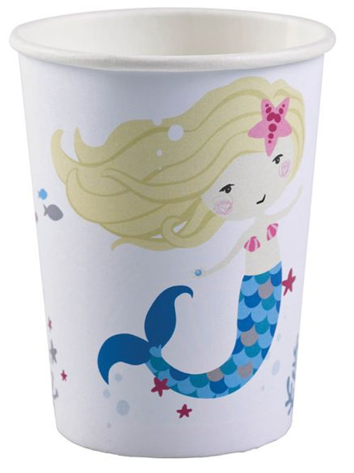 "Becher ""Be a mermaid"", weiß"
