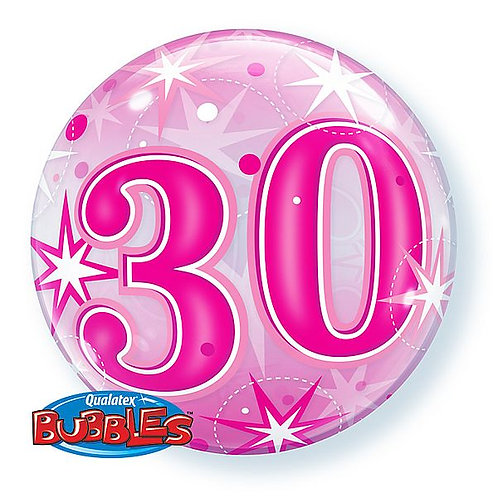 "Bubble Balloon ""30"" in pink"