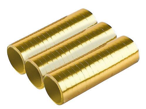 Luftschlangen gold-metallic