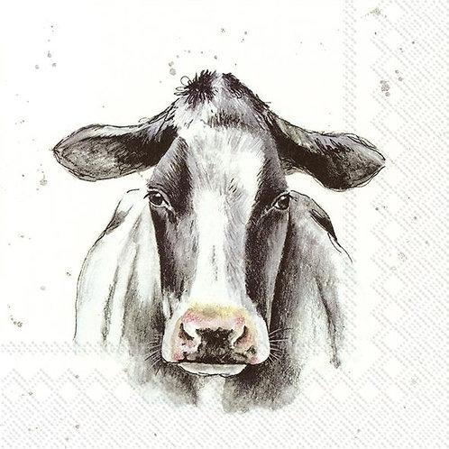 Servietten Kuh schwarz/weiß