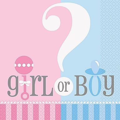 "Servietten ""Girl or Boy?"""