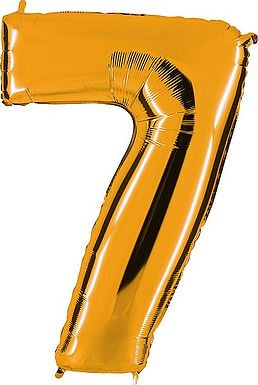 """Riesenzahl """"7"""" - gold"""