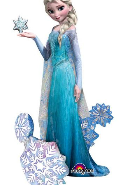 Elsa mit Schneeflocken (Airwalker / auf dem Boden stehend)