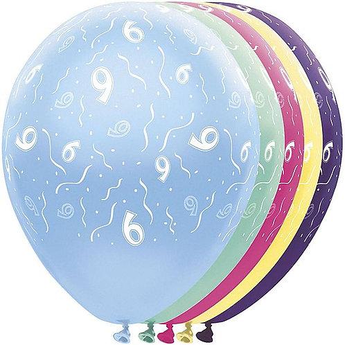 "Latexballons ""9"" bunt / Sortiment 1"