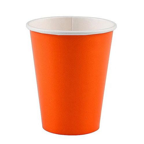 Becher einfarbig orange