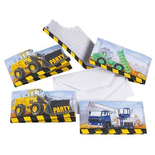 Einladungskarten Baustelle
