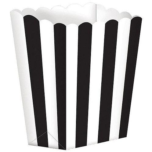 Popcorn Boxes schwarz/weiß gestreift