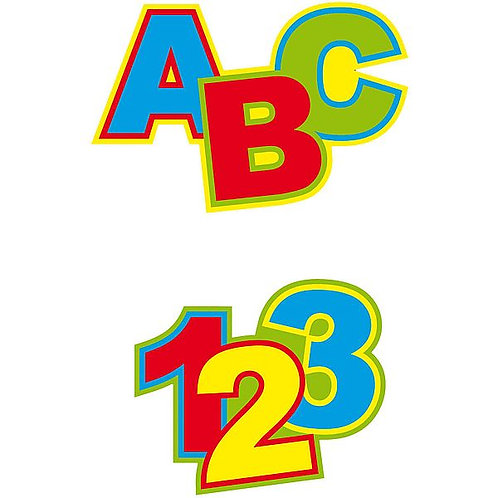 "Streudekoration ""ABC - 123"""