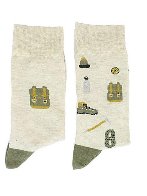 Socken mit Wander- bzw. Bergsteigermotiven, Größe 41-46