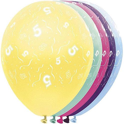 "Latexballons ""5"" bunt / Sortiment 1"