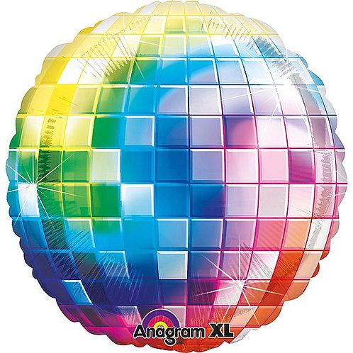 XXL-Folienballon Discokugel in Regenbogen-Farben