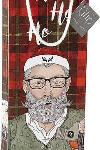 Flaschentasche Hipster Santa