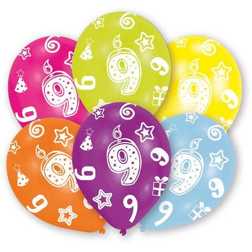 "Latexballons ""9"" bunt / Sortiment 2"