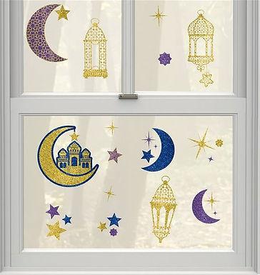 "Fensterbilder ""Eid Mubarak"""