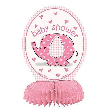 Tischaufsteller Babyshower / rosa