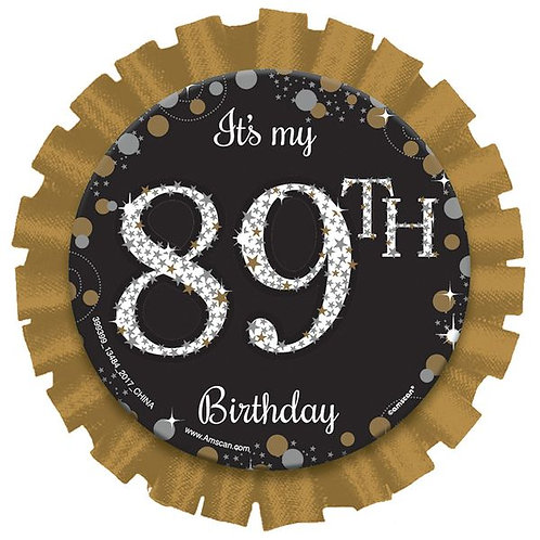 Anstecker Happy Birthday / Alter personalisierbar