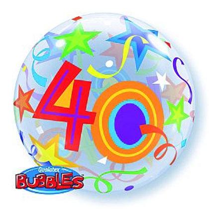 "Bubble Balloon ""40"" in bunt"