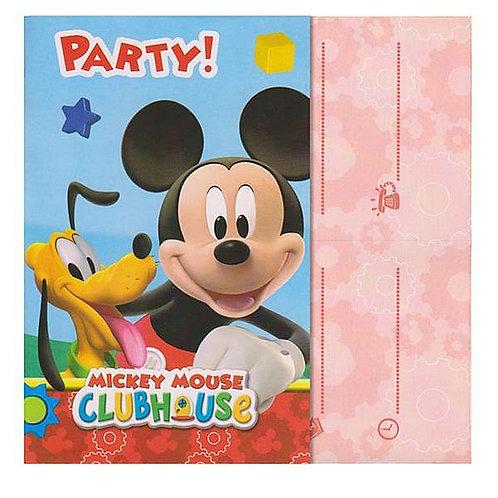 Einladungskarten Mickey Mouse Clubhouse