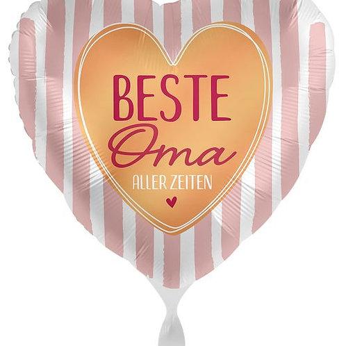 Folien-Herzballon: Beste Oma aller Zeiten